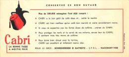 CAFE CABRI HACCOURT VISE BUVARD - Buvards, Protège-cahiers Illustrés
