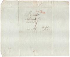 Lettre De Boulogne, Pour Saint LO (Manche), Port 5, Adressée à Monsieur Avril, Cachet Rouge De Boulogne, 61 - Marcophilie (Lettres)