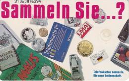 TARJETA DE ALEMANIA CON UNA MONEDA Y SELLO (COIN-STAMP) - Sellos & Monedas