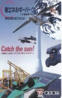 TARJETA DE JAPON DE UN MOLINO DE VIENTO Y PLACAS SOLARES (MOULIN-MILL) (110-011) - Japón