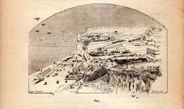 1890 - Gravure Sur Bois - Dieppe (Seine-Maritime) - La Plage De Puys - FRANCO DE PORT - Prints & Engravings