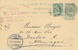 311/24 - TABAC Belgique - Cachet Tabaxset Cigarettes Orion à SCHAERBEEK S / Entier Armoiries BXL Nord 1899 - Tabac