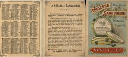 PUBLICITES - Petit Dépliant Publicitaire - REGLISSE SANGUINEDE De MONTPELLIER - Advertising