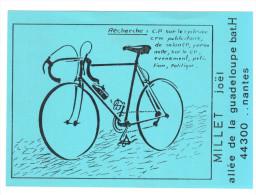 CPSM PERSONNELLE JOEL MILLET NANTES VELO CYCLISME N° 34/50 AVIS DE RECHERCHE - Cartes Postales