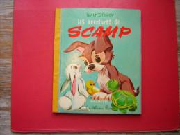 ENFANTINA / ENFANT   WALT DISNEY  LES AVENTURES DE SCAMP  HACHETTE  LES ALBUMS ROSES 1964 - Disney