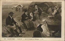 29 - SAINTE-ANNE-LA-PALUD - Procession - Pardon Breton - Costumes Bretons - Salon De 1908 - Reproduction Peinture - - France