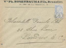 312/24 - JUDAICA Belgique - Entete Vve Ph. Rosenbaum BRUXELLES S/ Lettre TP Fine Barbe 1902 - Jewish