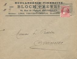 313/24 - JUDAICA Belgique - Entete Boulangerie Viennoise Bloch Frères BRUXELLES S/ Lettre TP Grosse Barbe 1910 - Jewish