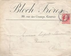 314/24 - JUDAICA Belgique - Entete Bloch Frères à GAND S/ Lettre TP Grosse Barbe 1910 Vers Brasseur OVERMEIRE - Jewish