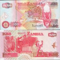 Zambia 1992 - 50 Kwacha - Pick 37 UNC - Zambie