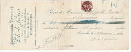 315/24 - JUDAICA Belgique - Entete Boulangerie Viennoise Bloch Frères BRUXELLES S/ Reçu TP Grosse Barbe 1910 - Jewish