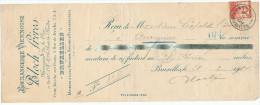 316/24 - JUDAICA Belgique - Entete Boulangerie Viennoise Bloch Frères BRUXELLES S/ Reçu TP Pellens 1914 - Jewish