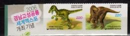 Korea, South 2006 Dinosaur World Expo, Goseong - Self-Adhesive.Prehistoric Animals.fauna.MNH - Korea, South