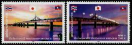 LAOS - 2006 - Mi 2015-2016 - FRIENDSHIP BRIDGE II - MEKONG BRIDGE LAOS-THAILAND - MNH ** - Laos