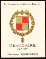 Cigarettes Laurens/Le Blason Des Villes De France : Armoiries De Beaucare - Cigarette Cards