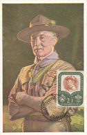 D22518 CARTE MAXIMUM CARD 1957 LUXEMBOURG - SCOUTING BADEN POWELL CP ORIGINAL - Covers & Documents