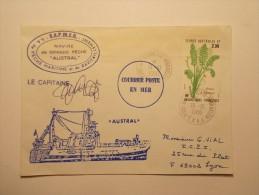 Marcophilie - Bâteau - Navire Grande Pêche AUSTRAL - Kerguelen 19/10/1986 Terres Australes & Antarctiques (32/33) - Terres Australes Et Antarctiques Françaises (TAAF)