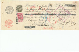 317/24 - JUDAICA Belgique - Entete Levy Piron BRUXELLES S/ Reçu TP Fine Barbe 1900 - Jewish