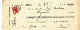 319/24 - JUDAICA Belgique - Entete Faienceries Et Verreries Blum § Cie à LIEGE S/ Reçu TP Grosse Barbe 1908 - Jewish