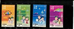 HONG KONG POSTFRIS MINT NEVER HINGED POSTFRISCH EINWANDFREI NEUF SANS CHARNIERE YVERT 866 869 - Neufs