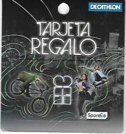 Decathlon Spain, Gift Card For Collection On Its Backer, No Value # 27a - Gift Cards