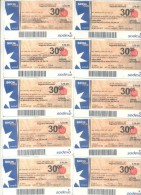 PLAN NACIONAL DE SEGURIDAD ALIMENTARIA BONO - ABORDAJE INTEGRAL DE POLITICAS ALIMENTARIAS SALTA $ 30.- ARGENTINA - Origine Sconosciuta