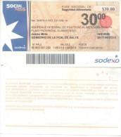 PLAN NACIONAL DE SEGURIDAD ALIMENTARIA BONO - ABORDAJE INTEGRAL DE POLITICAS ALIMENTARIAS SALTA $ 30.- ARGENTINA - Unknown Origin
