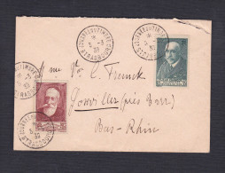 377 Charcot 65c+35c Et 380 Chomeurs Intellectuels 30c+10c Anatole France Journee Timbre Strasbourg Vers Goxwiller - Postmark Collection (Covers)