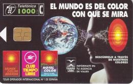 TARJETA DE ESPAÑA DE 1000 PESETAS DEL GLOBO TERRAQUEO (TIEMPO LIBRE) - Astronomy