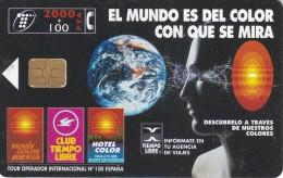 TARJETA DE ESPAÑA DE 2000 PESETAS DEL GLOBO TERRAQUEO (TIEMPO LIBRE) - Astronomy