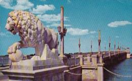 Bridge Of Lions Spans Matanzas River To Anastasia Island Saint A