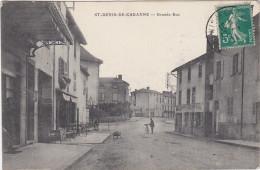 CPA FRANCE SAINT DENIS DE CABANNE GRANDE RUE - Otros Municipios