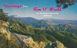 Greetiongs From Rim O'world San Bernardino Mountains California