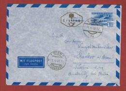 Ganzsache Luftpostbrief  F D C  1,00 Sch  Wien - Slavkov C S R 1/9/1948 - 1945-.... 2. Republik