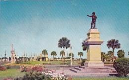 Ponce De Leon Monument And Circle Saint Augustine Florida