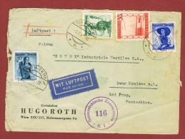 Luftpostbrief 1,55 Sch Wien - Dvur Kralova, C S R   9/10/1948 - 1945-60 Lettres