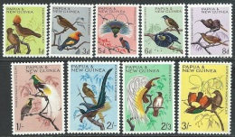 Papua  New Guinea  1964-5   Sc#188-96  Birds To The 2sh3d  MNH** & 3sh MLH*  2016 Scott Value $9.10 - Papua New Guinea
