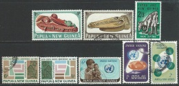 Papua  New Guinea  1965  8 Diff Used  2016 Scott Value $3.75 - Papua-Neuguinea