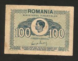 ROMANIA - MINISTERUL FINANTEROL - King Michael I 100 LEI (1945) - WWII - Romania