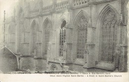 CPA  POPERINGHE : Oorlog 14-18 ? Obus In Sint-Bertin's Kerk - Poperinge