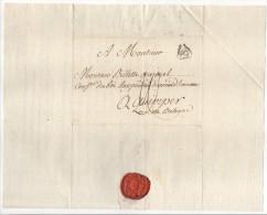 Lettre De Paris, Pour Quimper, (Bretagne), Port 10, Adressée à Monsieur Billette-Querouel, Cachet P, Triangle, 1787 - Marcophilie (Lettres)