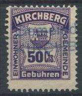 1045 - KIRCHBERG Fiskalmarke