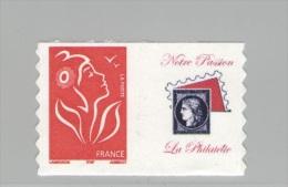 Timbre Personnalisé N° Y&T 3802 Aa - Autoadhésif Rouge Avec Vignette Notre Passion La Phialtélie - Neuf ** - Personalisiert