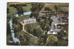CPSM 28 - AUTHON-du-PERCHE - Vue Aérienne - Château De Charbonnières + Dépendances à Droite - Autres Communes