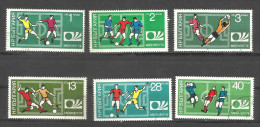 BULGARIA, 1974, Football World Cup, Soccer, West Germany, Complete Set 6 V,  FINE USED - 1974 – Germania Ovest