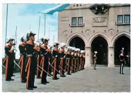 CPSM SAN MARINO SAINT MARIN PLACE DE LA LIBERTE LA GARDE NOBLE - San Marino