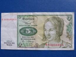 5,00 DM, 1980 - [ 7] 1949-… : RFA - Rep. Fed. De Alemania