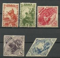 TANNU TUVA 1934 Michel 41 - 45 A * - Touva