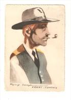 25 Franche Comté : Illustration Jaillet : Type Franc Comtois Portrait Homme Avec Chapeau & Pipe - Personnages