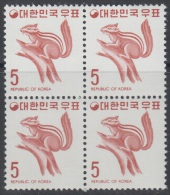 South Korea KPC267 Wildlife, Squirrel, Block - Corée Du Sud